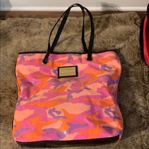 Betsy Johnson sequined tote nwot